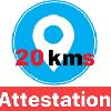 Appli Androïd 20 km + Attestation